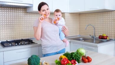 نظام غذائي لطفل 6 اشهر