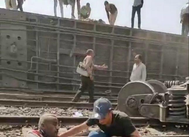 تحطم قطار طوخ
