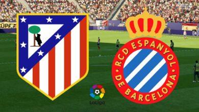 مباراة إسبانيول وأتلتيكو مدريد مباشر