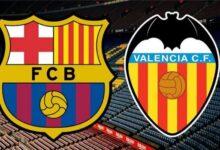 ويبحث عشاق كرة القدم في الوطن العربي عن القنوات الناقلة لمباراة برشلونة وفالنسيا، هجمة مرتدة، قنوات تبث مباراة برشلونة وفالنسيا، كورة اكسترا، مباراة برشلونة ضد فالنسيا اليوم، مباراة برشلونة أمام فالنسيا مباشرة، مباراة برشلونة ضد فالنسيا، يلا شوت، مباراة برشلونة ضد فالنسيا اليوم، مباراة برشلونة ضد فالنسيا مباشرة، كورة ستار، موعد مباراة برشلونة ضد فالنسيا، كورة توداي.